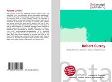 Buchcover von Robert Currey