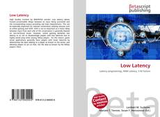 Bookcover of Low Latency