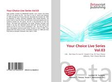 Обложка Your Choice Live Series Vol.03
