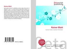 Bookcover of Rainer Blatt