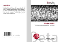 Buchcover von Rainer Ernst