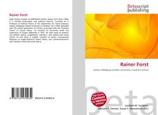 Bookcover of Rainer Forst