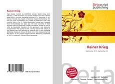 Capa do livro de Rainer Krieg