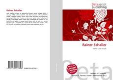 Bookcover of Rainer Schaller