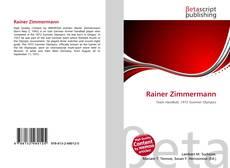 Bookcover of Rainer Zimmermann