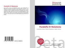 Bookcover of Pandolfo IV Malatesta