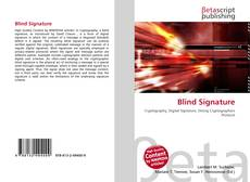 Bookcover of Blind Signature