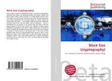 Bookcover of Block Size (cryptography)