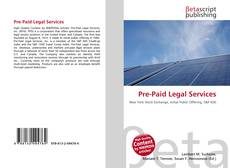 Bookcover of Pre-Paid Legal Services
