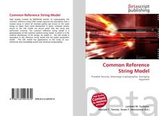 Обложка Common Reference String Model