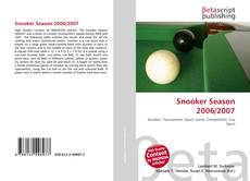 Capa do livro de Snooker Season 2006/2007