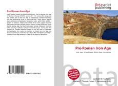 Pre-Roman Iron Age kitap kapağı