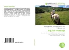Bookcover of Equine massage