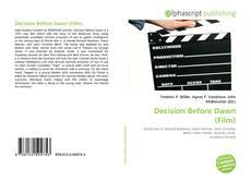Couverture de Decision Before Dawn (Film)