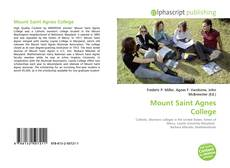 Bookcover of Mount Saint Agnes College