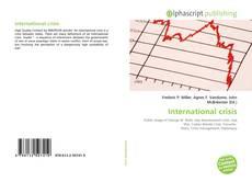 Buchcover von International crisis