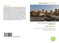 Обложка Agesipolis I