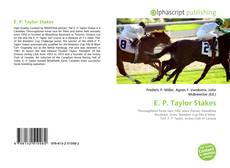 Bookcover of E. P. Taylor Stakes