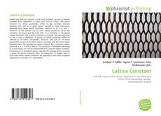 Bookcover of Lattice Constant