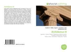 Обложка Archidamus III