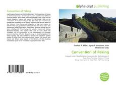 Bookcover of Convention of Peking