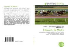Capa do livro de Etienne L. de Mestre