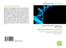 Couverture de Johann Heinrich Lambert