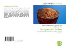 Couverture de Manganese(II) Sulfate