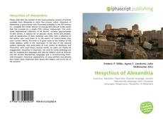 Bookcover of Hesychius of Alexandria