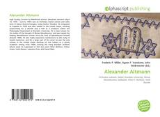 Portada del libro de Alexander Altmann