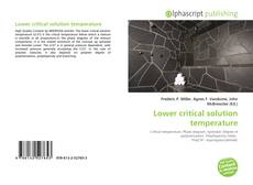 Bookcover of Lower critical solution temperature