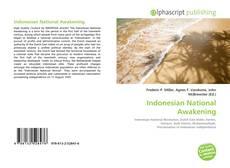 Capa do livro de Indonesian National Awakening