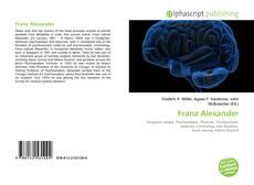 Buchcover von Franz Alexander