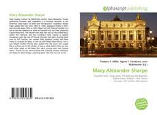 Buchcover von Macy Alexander Sharpe