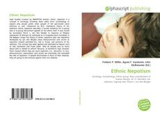 Bookcover of Ethnic Nepotism