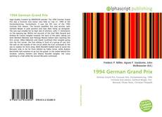 Capa do livro de 1994 German Grand Prix