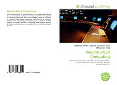 Bookcover of Decentralized Computing
