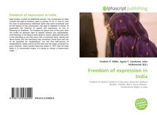 Bookcover of Freedom of expression in India