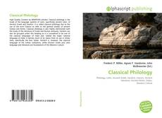 Couverture de Classical Philology