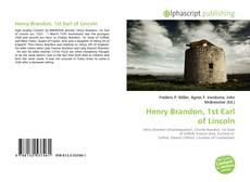 Buchcover von Henry Brandon, 1st Earl of Lincoln