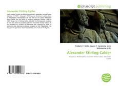Bookcover of Alexander Stirling Calder