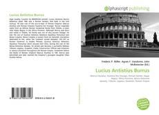 Buchcover von Lucius Antistius Burrus