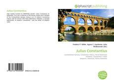 Capa do livro de Julius Constantius