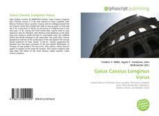 Portada del libro de Gaius Cassius Longinus Varus