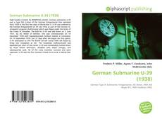 Bookcover of German Submarine U-39 (1938)