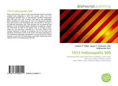 Capa do livro de 1913 Indianapolis 500