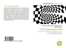 Capa do livro de 1951 Indianapolis 500