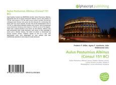 Bookcover of Aulus Postumius Albinus (Consul 151 BC)