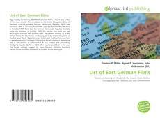Bookcover of List of East German Films