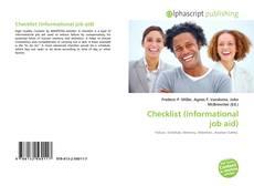 Buchcover von Checklist (informational job aid)